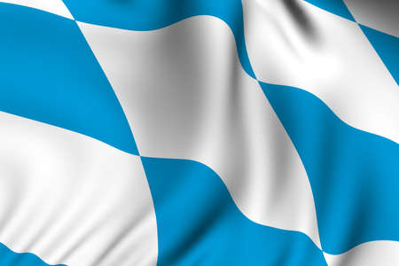 accurate: Rendering of a waving flag of Bavaria with accurate colors and design and a fabric texture.