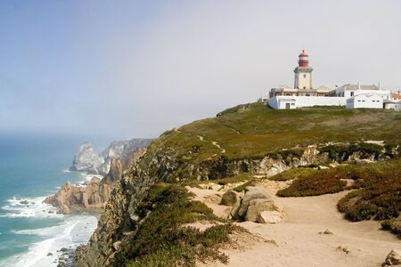 Cabo da Roca is the westernmost point of mainland Europe.  Located in the Lisbon district, Portugal. Stock fotó