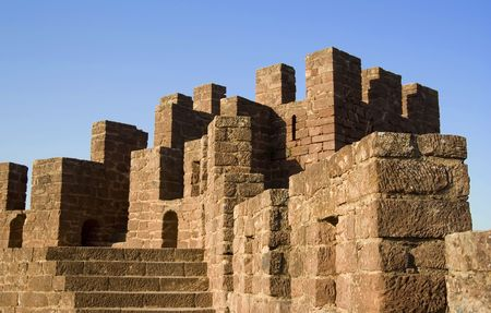 Detail of moorish fortress at Silves, Portugal in the Algarve
