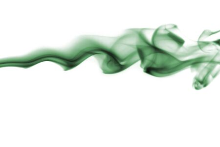 green smoke isolated over a white background Banco de Imagens - 735829