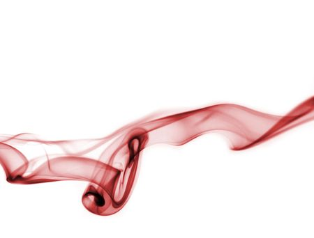 red smoke isolated on a white background.