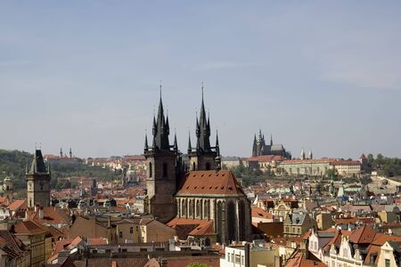 View of Prague from the Powder Tower.