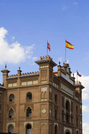 Las Ventas is perhaps the most important bullring in the world.  Located in Madrid, Spain, it was inaugurated in 1931.  Its style is Mudejar (Moorish) and has a capacity of 25000. photo