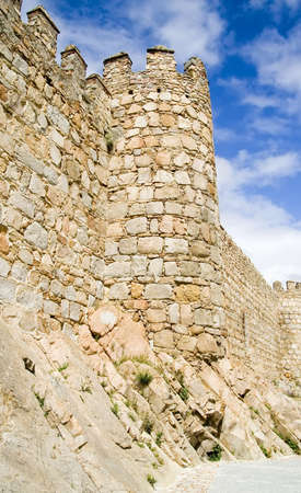 Medieval city walls in Avila Spain.  Considered the best preserved in Europe. photo