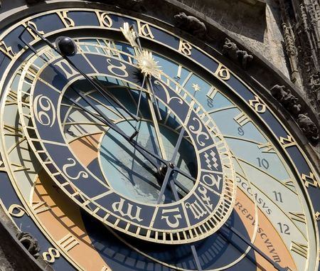 The Prague Astronomical Clock (Prague Orloj) is a medieval astronomical clock dating back to 1410 located in Prague, Czech Republic. The Orloj is mounted on the southern wall of Old Town City Hall in the Old Town Square. Reklamní fotografie