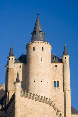 The Alcazar is a 8th century castlepalace located in Segovia, Spain.  Originally built by the moors. and later modified by the Spanish kings.
