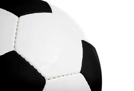 Voetbal (soccer ball) geïsoleerd op een witte achtergrond.