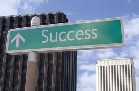 Street sign with an arrow and the word Stock Photo - 1729364