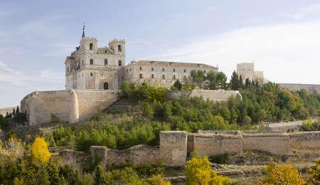 nicknamed: The Monastery of Ucles in Cuenca province, Castilla La Mancha is nicknamed El Escorial de La Mancha.  It was the headquarters for the Order of Santiago in medieval times.