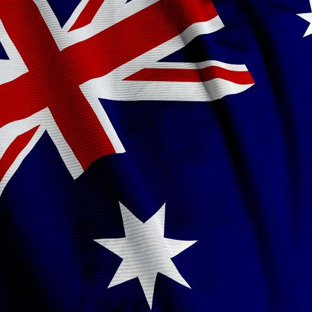 Close up of the Australian flag, square image