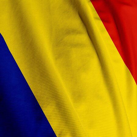 Sluit een van de Roemeense vlag, vierkante afbeelding