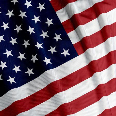 Close-up van de Amerikaanse vlag, vierkante afbeelding Stockfoto