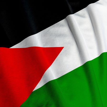 Close up of the Palestinean flag, square image
