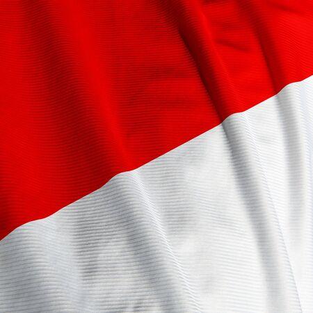 インドネシアの旗正方形の画像のクローズ アップ