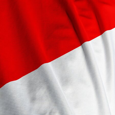 Close up of the Indonesian flag, square image Imagens