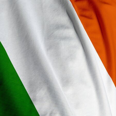 Close up of the Irish flag, square image