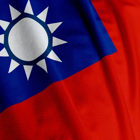 Closeup of the flag of Taiwan, square image