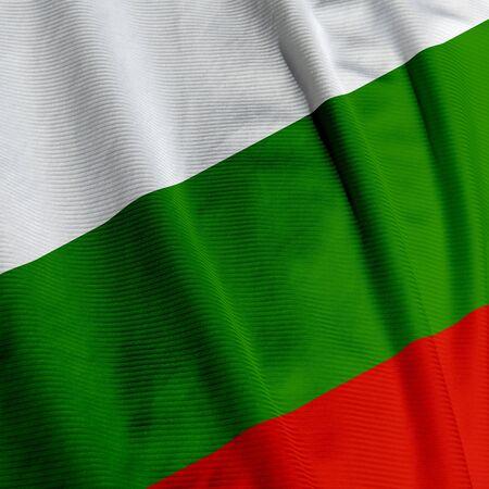 Gros plan du drapeau de la Bulgarie, image carrée