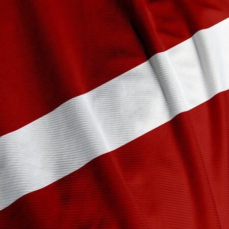 Closeup del pabellón letón, cuadrado de imagen  Foto de archivo - 2589804