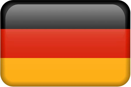 German flag rectangular button.  Part of set of country flags all in 2:3 proportion with accurate design and colors. 免版税图像