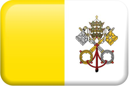 Vatican City flag rectangular button.  Part of set of country flags all in 2:3 proportion with accurate design and colors. Reklamní fotografie