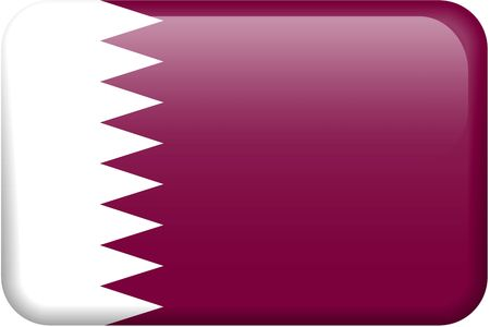 Qatari flag rectangular button.  Part of set of country flags all in 2:3 proportion with accurate design and colors. Reklamní fotografie