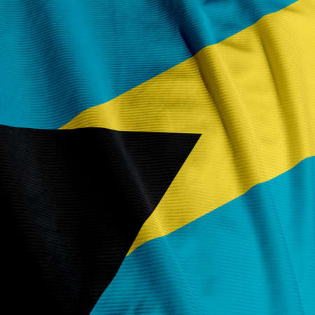 Close up of the Bahamian flag, square image