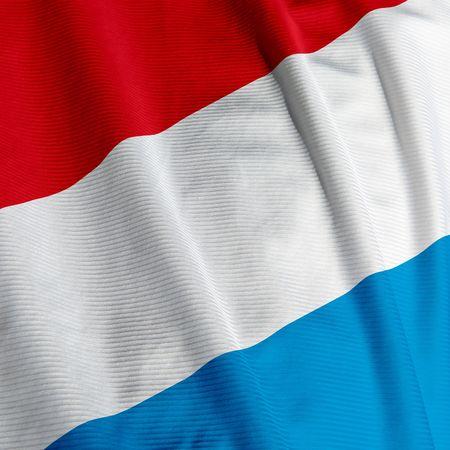 Sluit omhoog van de vlag van Luxemburg, vierkant beeld Stockfoto