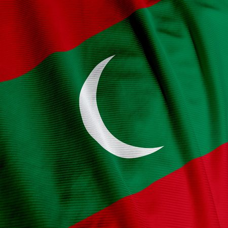 Close up of the flag of Maldivian, square image
