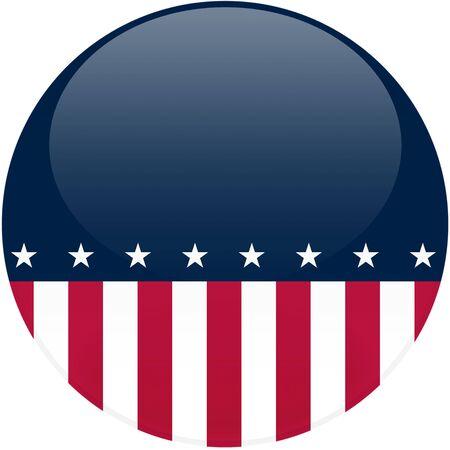 ラウンド 3 d 効果を持つボタン、コピー スペース - 含まれるクリッピングパスとアメリカの国旗をテーマにした選挙 写真素材 - 3006590