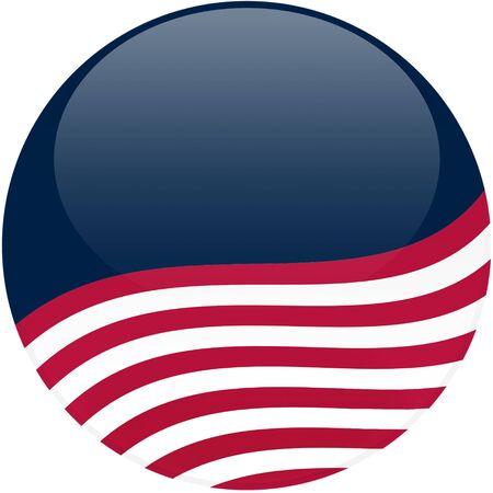 선거 테마 둥근 3d 효과, 미국 국기 - 클리핑 경로 포함 버튼 스톡 콘텐츠