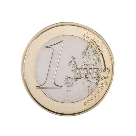 Close-up of an uncirculated one Euro coin. Banco de Imagens - 3063807