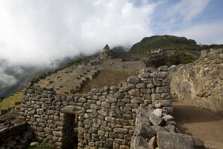 agricultural area: View of the agricultural area of the city of Machu Picchu