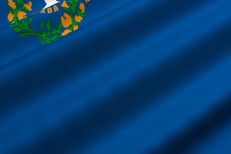Detailed 3d rendering closeup of the flag of the US State of Nevada.  Flag has a detailed realistic fabric texture. photo