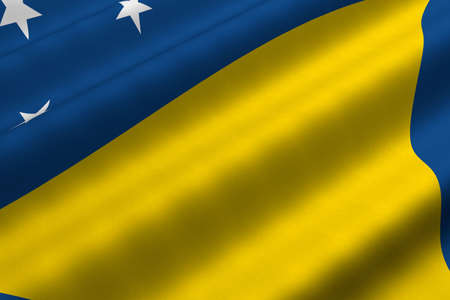 Detailed 3d rendering closeup of the flag of Tokelau.  Flag has a detailed realistic fabric texture. Stok Fotoğraf