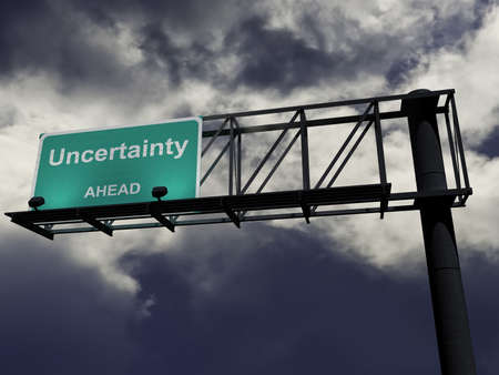 Overhead highway sign with the words Stock Photo - 5772970