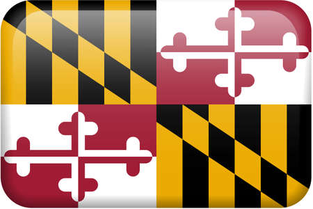 maryland flag: Maryland flag rectangular button.