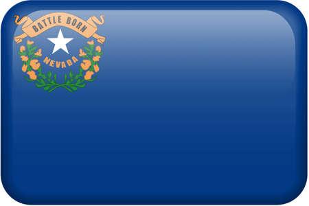 Nevada flag rectangular button.   photo