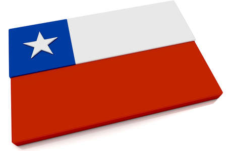 Three dimensional Chilean flag button.  Part of set of country flags all in 2:3 proportion with accurate design and colors. Stock Photo - 6667552