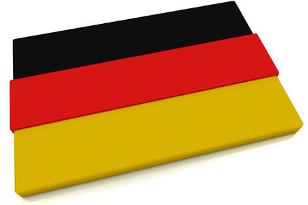 Three dimensional German flag button.  Part of set of country flags all in 2:3 proportion with accurate design and colors.