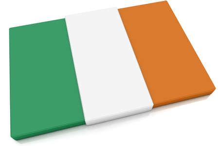 Three dimensional Irish flag button. photo