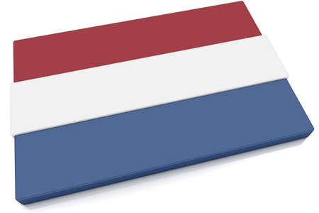 Three dimensional Dutch flag button. photo