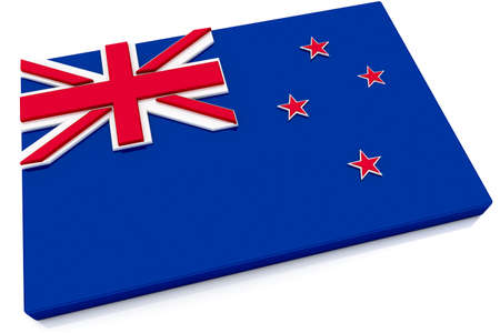 Three dimensional New Zealand flag button.   photo