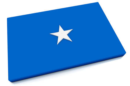 somalian: Three dimensional Somalian flag button.  Stock Photo