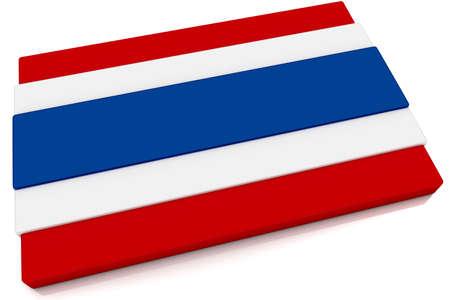 Three dimensional Thai flag button. Stock Photo - 6843790