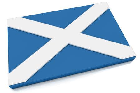 scottish flag: Pulsante tre dimensionale bandiera scozzese. Parte del gruppo di flag paese tutto in proporzione 2: 3 con una progettazione accurata e colori.