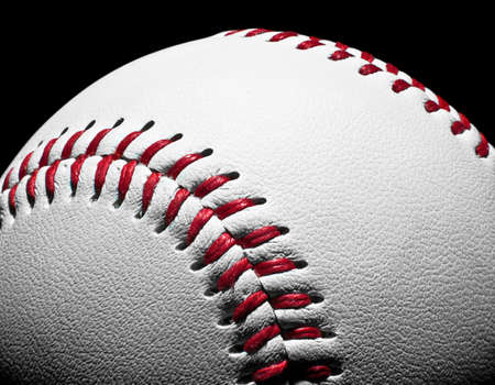 Close-up of a baseball with large depth of field.