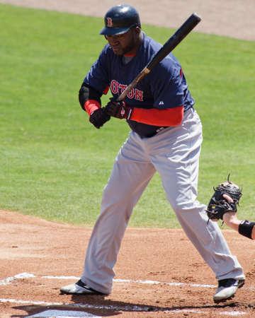 JUPITER, FL USA - Mar. 24, 2010: Red Sox designated hitter David