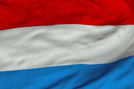 Detailed 3D rendering closeup of the flag of the Netherlands.  Flag has a detailed realistic fabric texture and an accurate design and colors.