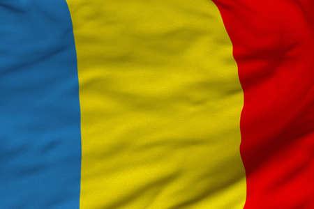 루마니아의 국기의 상세한 3D 렌더링 근접 촬영. 플래그는 상세한 현실적인 패브릭 질감과 정확한 디자인과 색상을 가지고 있습니다. 스톡 콘텐츠